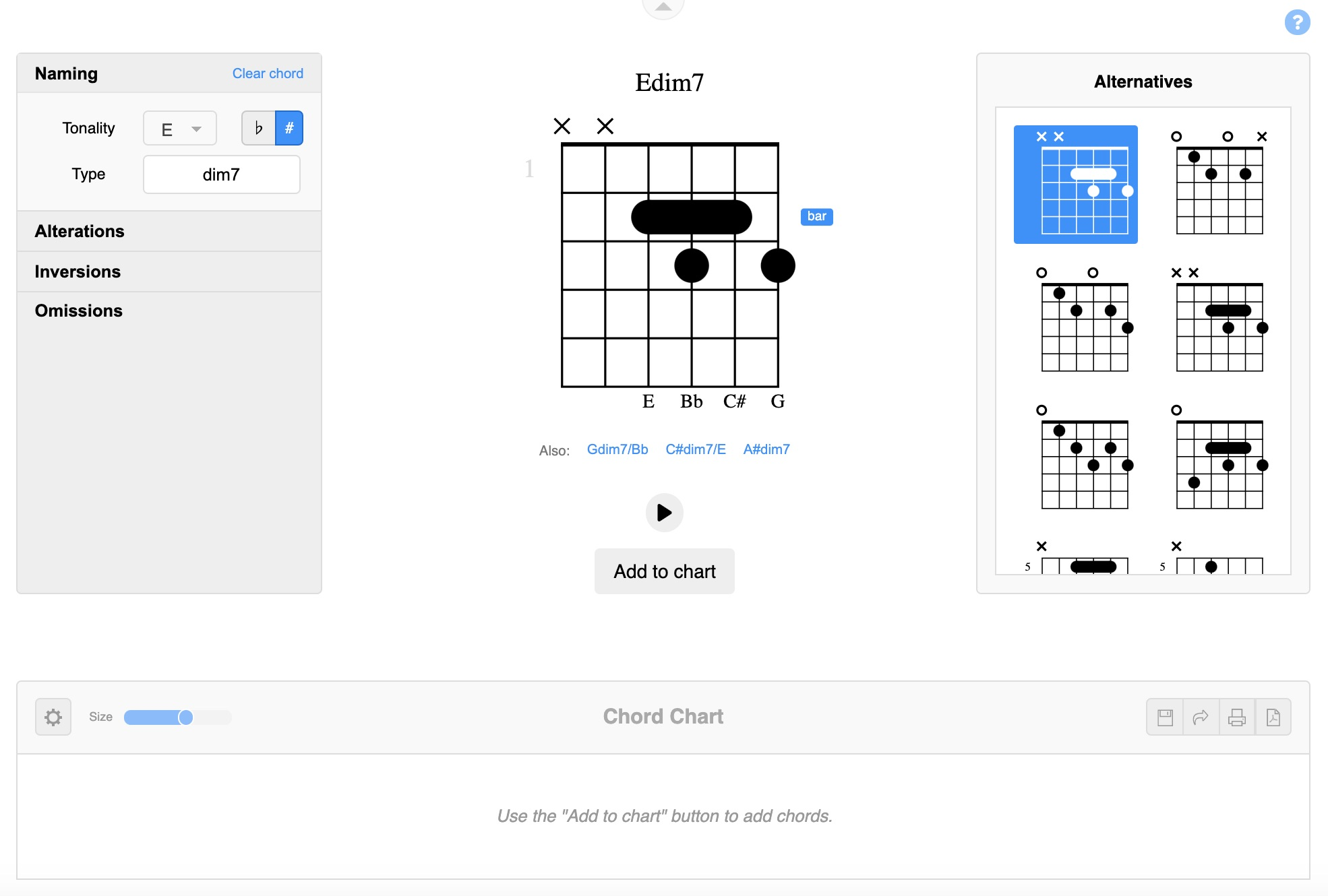 Essy Guitar Tab chords overview